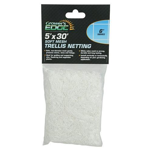 Grower's Edge Soft Mesh Trellis Netting 5 ft x 30 ft w/ 6 in Squares