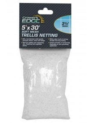 Grower's Edge Soft Mesh Trellis Netting 5 ft x 30 ft w/ 3.5 in Squares