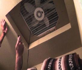 meth manufacture ventilaton into ceiling cavity
