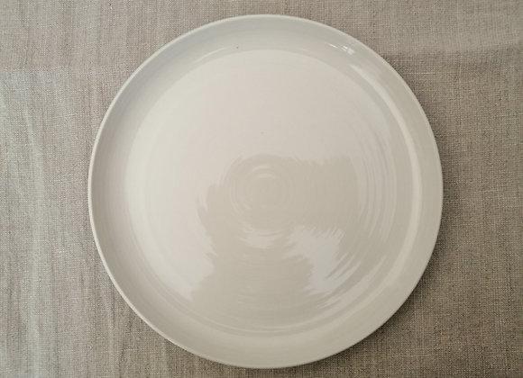 Assiette Blanc Cendré