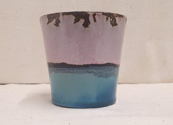 Bougie Dégradé Violet Bleu Pin Méditerranéen