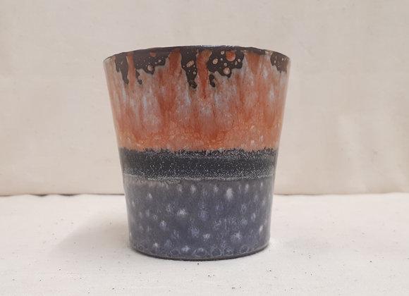 Bougie dégradé corail gris Vanille Noire