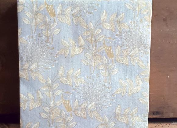 Serviettes de table en papier Hibou Argent X20