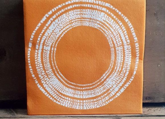 Serviettes de table en papier Rondin Orange X20