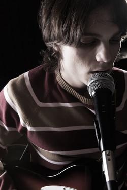 Chanteur en répétitions