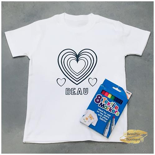 Heart Colour in T-Shirt