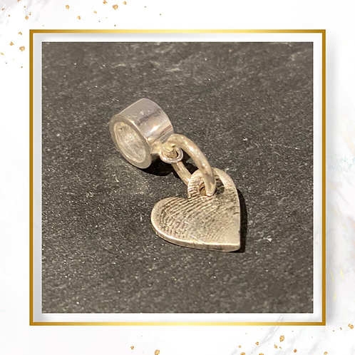 Silver Charm with Print