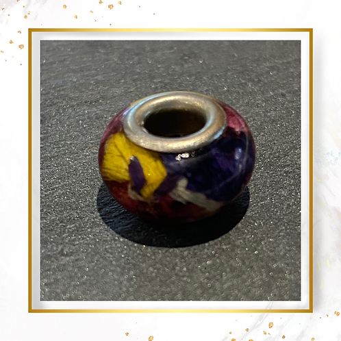 Classic Charm Bead with Flower Petals