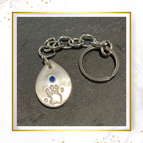 Silver Keyring with Print