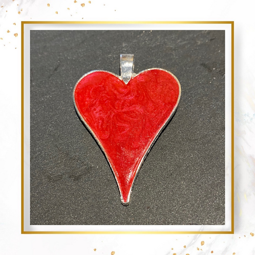 Inclusion Large Heart Pendant