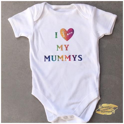 I Love My Mummys / Daddys Baby Grow