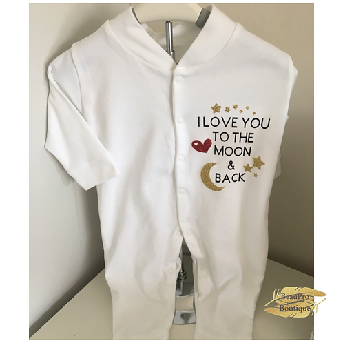 'I Love You To The Moon & Back' Baby Grow