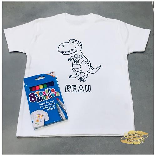 Dinorsaur Colour in T-Shirt