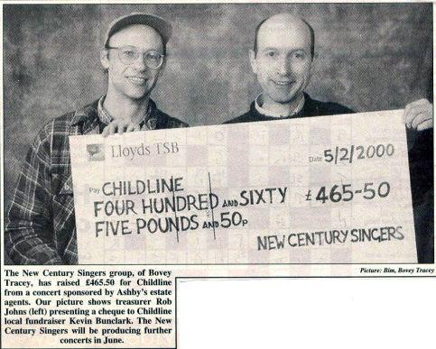 Feb 2000 Childline Cheque