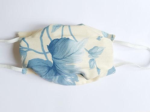 Masque fleurs bleues