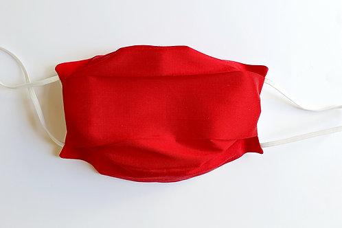 Masque soie sauvage rouge