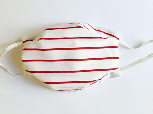 Masque rayé Blanc et rouge
