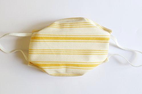 Masque rayé Blanc et jaune