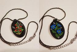 Oval Necklace black background