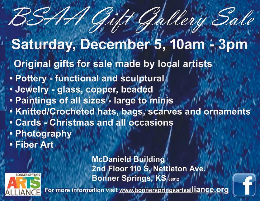 BSAA Gift GallerySale Dec. 5 - Revised c