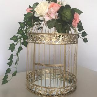 Gold Birdcage Wishing Well $25