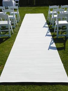 White Carpet Runner $120