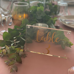 A varity of Table Numbers