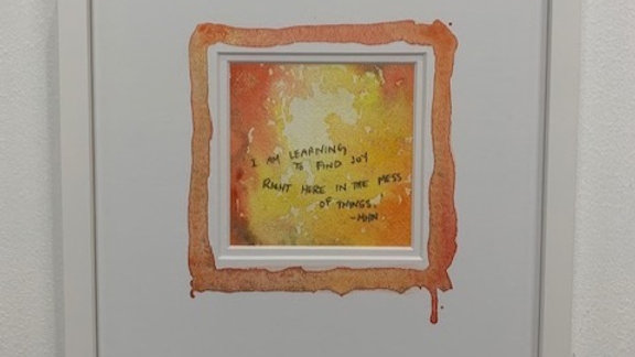 Orange Watercolour Inspiration Art