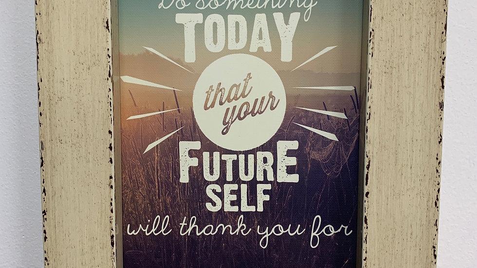 Framed 'Do Something Today' Journal