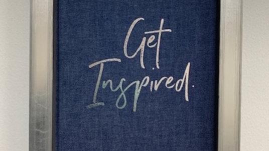 Framed 'Get Inspired' Journal