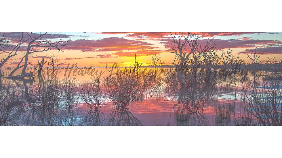 Sunset Over Menindee Lakes