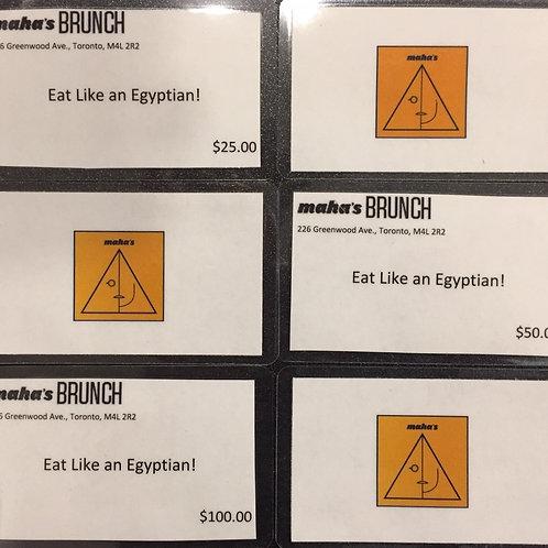 Maha's Gift Cards