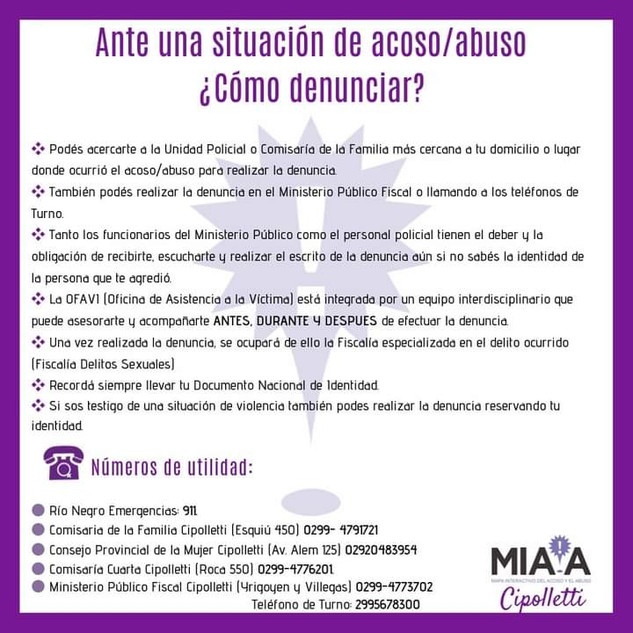 ¿Como denunciar una situación de acoso/abuso?