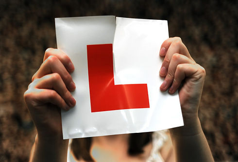 torn L plates-learner driver-hastings-pr