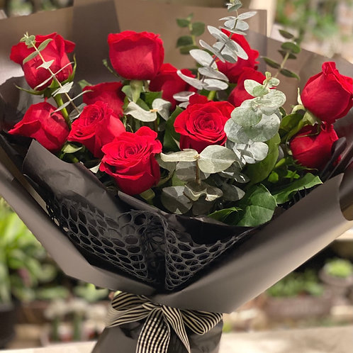 Red Dozen Rose Bouquet