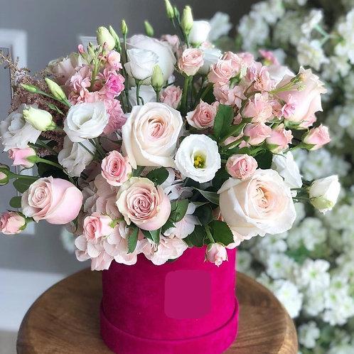 Pink Velvet Box Flowers