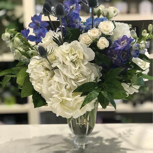 Blue and white Arrangement