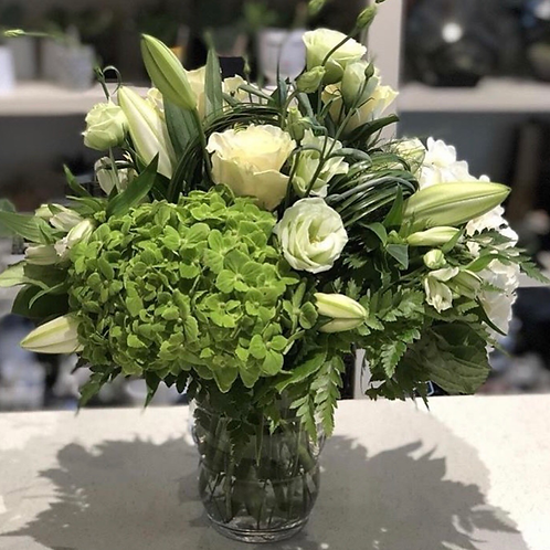 White & Green Arrangement #2