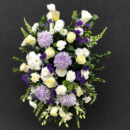 White & Purple Spray Arrangement