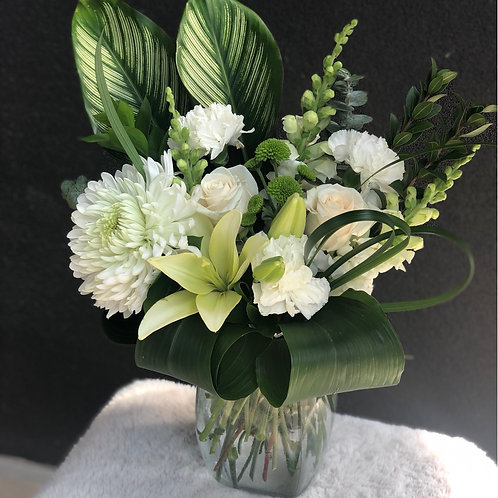 White &green arrangement #3