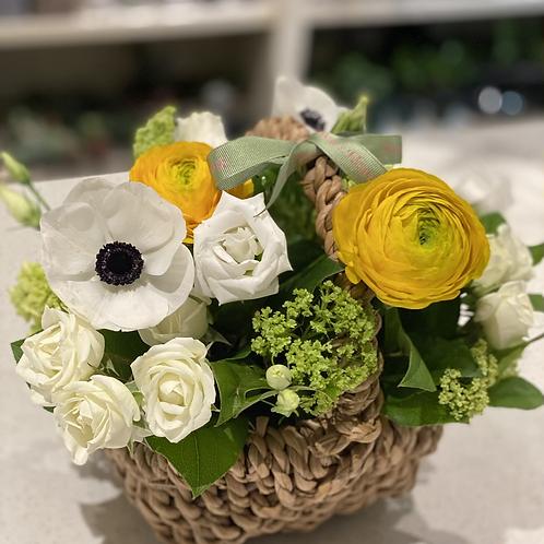 Yellow Spring Basket Arrangement