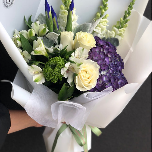 White & Purple Bouquet #1