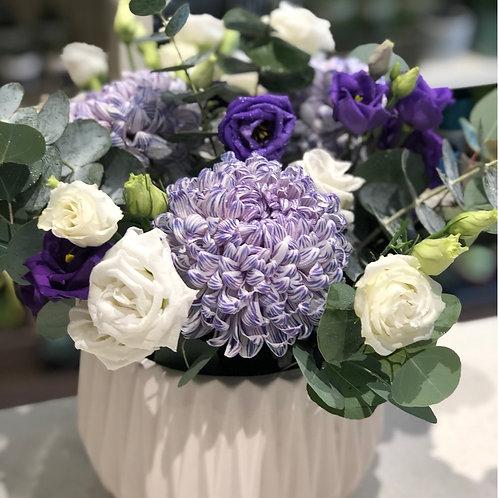 White  & Purple Arrangement #1