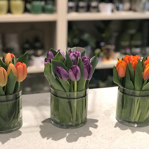 Spring trio tulip arrangement