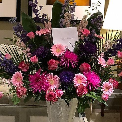 Pink & Purple Funeral Flowers