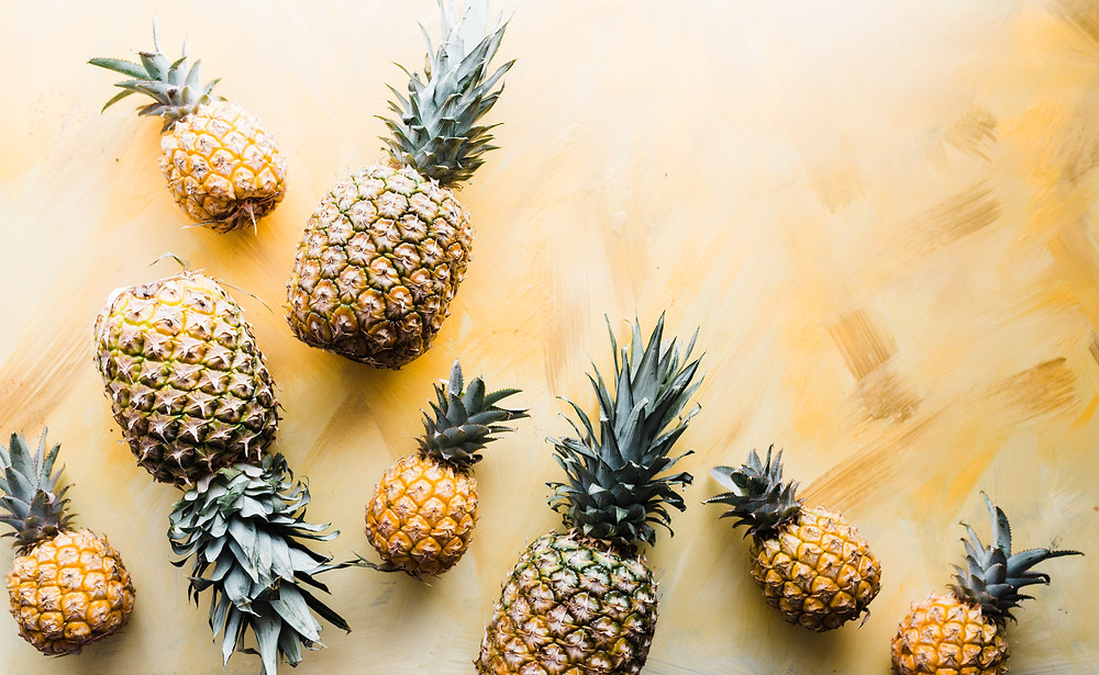 Fresh pineapple can help to calm IBS flare-ups because of the naturally occurring enzyme bromelain