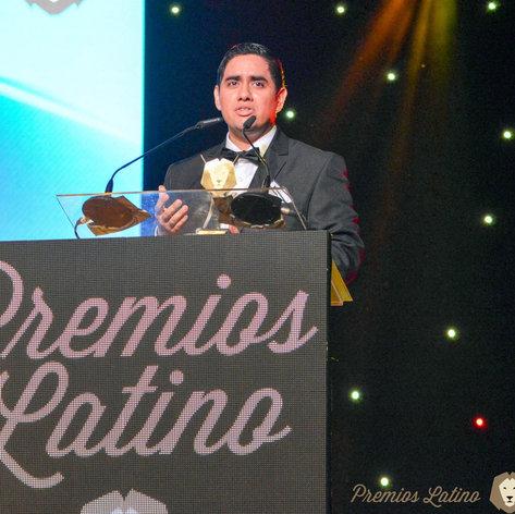 Giving a Speech at Premios Latino