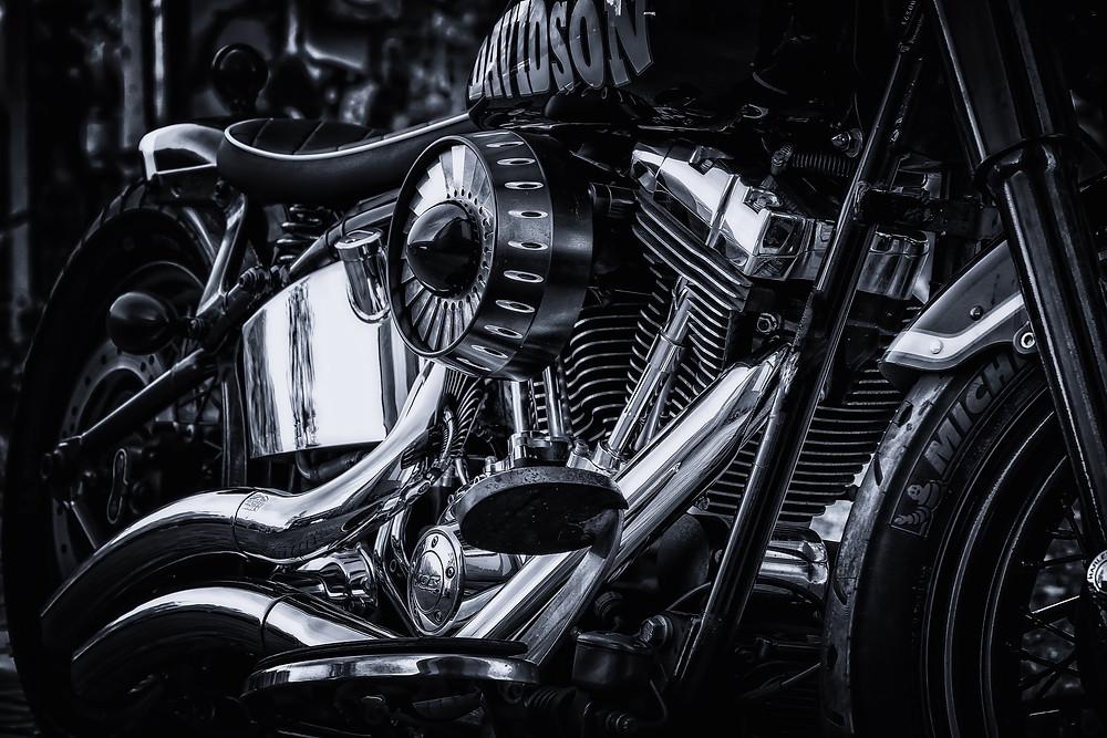 moottoripyörä metalli kromi alumiini kiillotettu