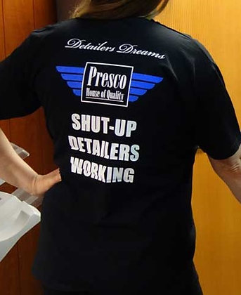 "T-paita ""Detailers working shut up"""