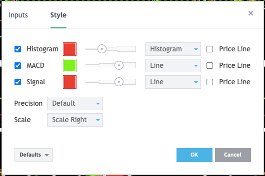 MACD Style Guide Inputs used on Investing.com (Figure 1.3)